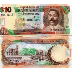 BARBADES 10 DOLLARS 2007 NEUF