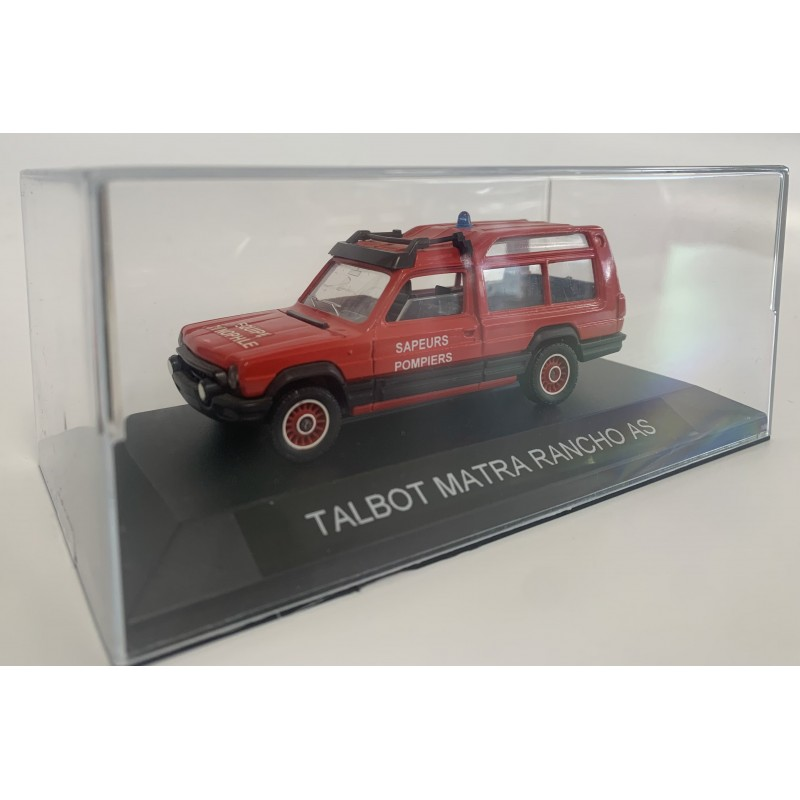 TALBOT MATRA RANCHO AS POMPIER SAPEURS POMPIERS EQUIPE CYNOPHILE 1/43 BOITE