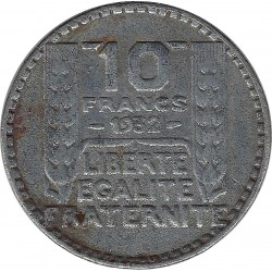 FRANCE 10 FRANCS TURIN 1939 TB+ FAUSSE