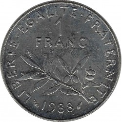 FRANCE 1 FRANC ROTY 1988 SUP