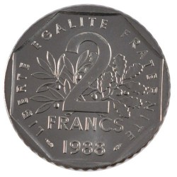 2 FRANCS ROTY 1988 SUP/NC