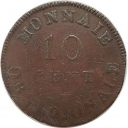 FRANCE 10 CENTIMES OBSIDIONALE 1814 TB G193d