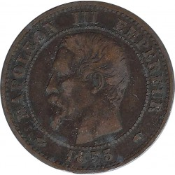 FRANCE 2 CENTIMES NAPOLEON III 1855 A ANCRE TB