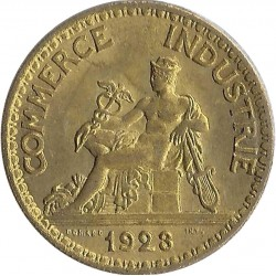 FRANCE 50 CENTIMES DOMARD 1923 SUP
