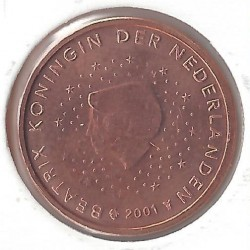 HOLLANDE (PAYS-BAS ) 2 CENTIMES 2001