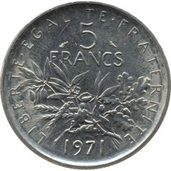 FRANCE 5 FRANCS ROTY 1970 SUP/NC