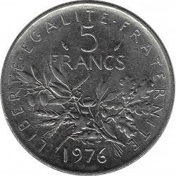 FRANCE 5 FRANCS ROTY 1976 SUP