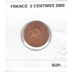 FRANCE 2000 2 CENTIMES SUP-