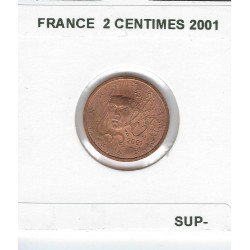 FRANCE 2001 2 CENTIMES SUP-