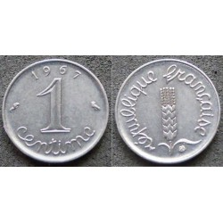 FRANCE 1 CENTIME INOX 1967...
