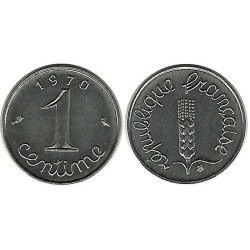FRANCE 1 CENTIME INOX 1970...