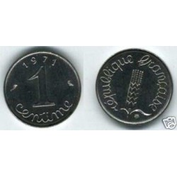 FRANCE 1 CENTIME INOX 1971 SUP