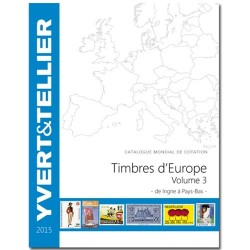 Catalogue Yvert de cotation des Timbres d'Europe de Ingrie à Pays-Bas 2015