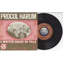 "45 Tours PROCOL HARUM ""A Whiter Shade Of Pale / A Salty Dog"""