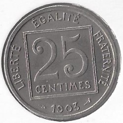FRANCE 25 CENTIMES PATEY...