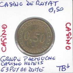 63 PUY DE DOME ( royat ) CASINO 0.50 FRANCS TB+