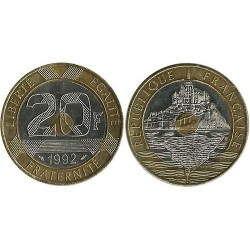 FRANCE 20 FRANCS MONT ST...