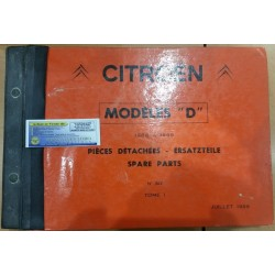 CITROEN MODELES D CATALOGUE GENERAL DE PIECES DETACHEES ERSATZTEILLE SPARE PARTS 1966 a 1969