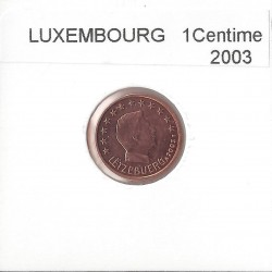 Luxembourg 2003 1 CENTIME SUP