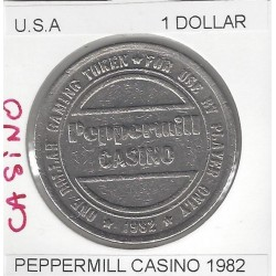 CASINO RENO 1 DOLLAR PEPPERMILL 1982