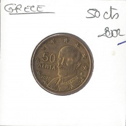 GRECE 2002 50 CENTIMES SUP-