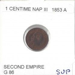 1 CENTIME NAPOLEON III 1853 A  SUP
