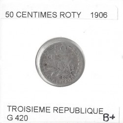 FRANCE 50 CENTIMES ROTY 1906 B+