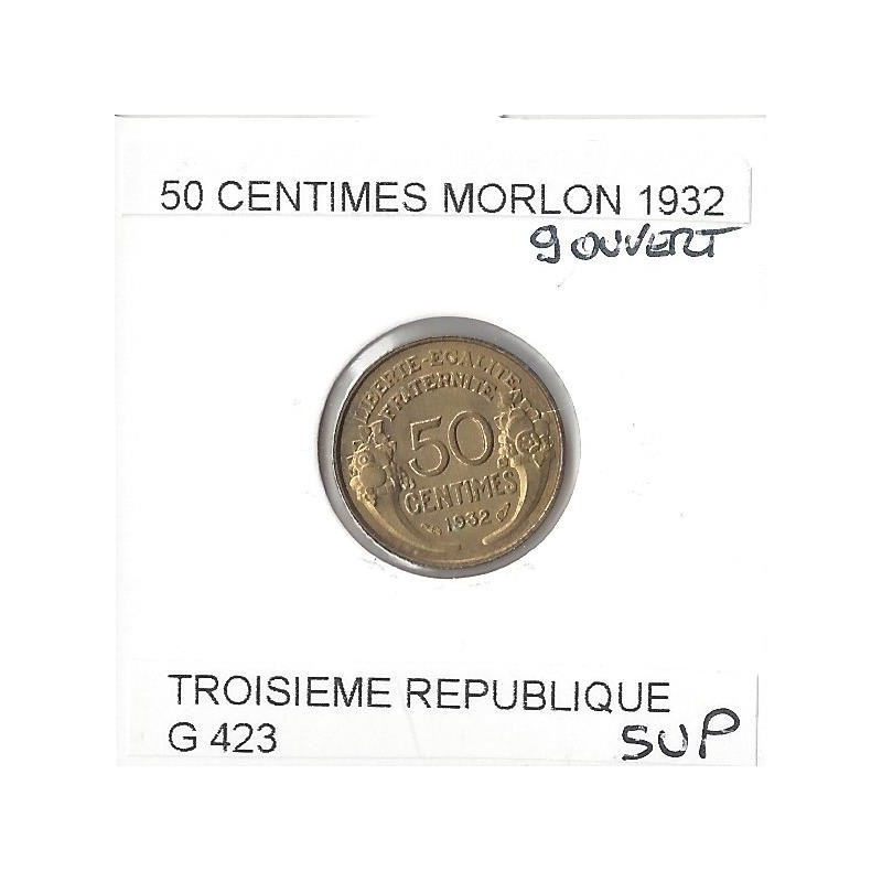 FRANCE 50 CENTIMES MORLON  1932 9 ouvert  SUP