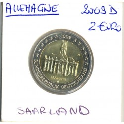 Allemagne 2009 D 2 EURO COMMEMORATIVE SAARLAND SUP