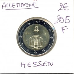 ALLEMAGNE 2015 F 2 EURO COMMEMORATIVE HESSEN SUP