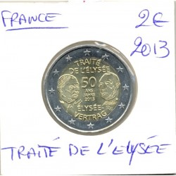 France 2013 2 EURO COMMEMORATIVE TRAITE DE L'ELYSEE SUP