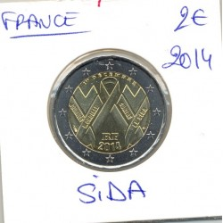 FRANCE 2 €URO COMMEMORATIVE SIDA 2014