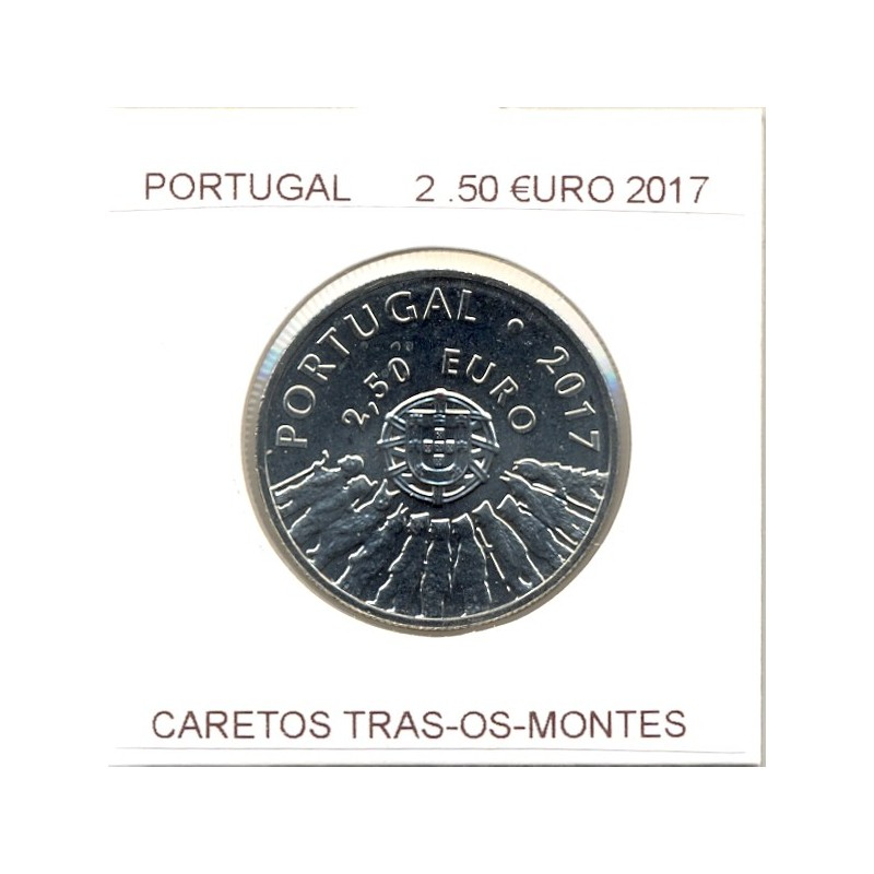 PORTUGAL 2017  2.50 EURO CARETOS TRAS OS MONTE SUP