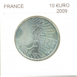 France 2009 10 EURO ARGENT SEMEUSE SUP