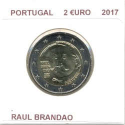 PORTUGAL 2017 2 EURO COMMEMORATIVE RAUL BRANDAO SUP