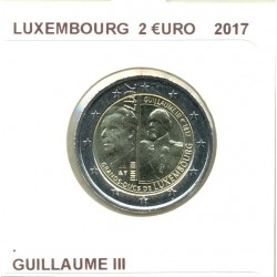 LUXEMBOURG 2017 2 EURO COMMÉMORATIVE GUILLAUME III SUP