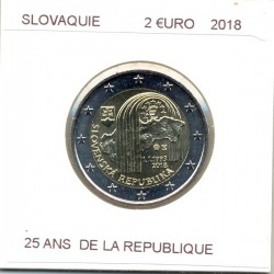 SLOVAQUIE 2018 2 EURO Commemorative 25 ANS DE LA REPUBLIQUE SUP