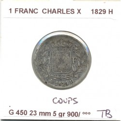 FRANCE 1 FRANC CHARLES X 1829 H TB COUPS