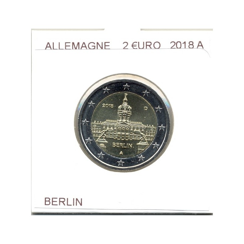 ALLEMAGNE 2018 A  2 EURO COMMEMORATIVE BERLIN SUP