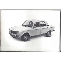 CARNET MANUEL NOTICE D'ENTRETIEN PEUGEOT 304 BERLINE, BREAK en 4 langues