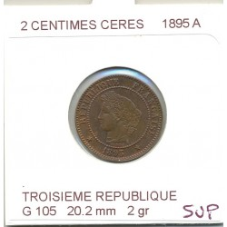 2 CENTIMES CERES 1895 A SUP