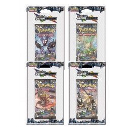 LOT 4 BOOSTERS DE 10 CARTES POKEMON SOLEIL ET LUNE ULTRA PRISME