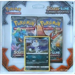 LOT 2 BOOSTER 10 CARTES + 1 CARTE COSMOG POKEMON SOLEIL ET LUNE OMBRES ARDENTES