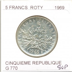 5 FRANCS ROTY 1969 SUP