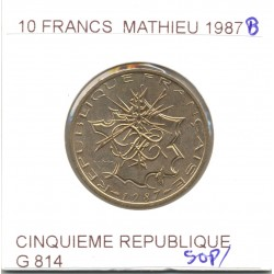 10 Francs MATHIEU 1987 B SUP