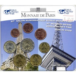 FRANCE 2008 SERIE 8 MONNAIES 37 eme SALON NUMISMATIQUE DE BERLIN BU