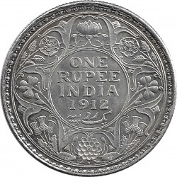 INDE ANGLAISE ONE RUPEE GEORGES V 1912 SUP-