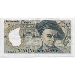 FRANCE 50 FRANCS QUENTIN DELATOUR 1979 C.15 TTB+