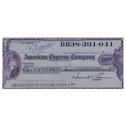 U.S.A AMERICAN EXPRESS TRAVELERS CHEQUE 10 DOLLARS BB38.391.041