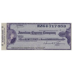 U.S.A AMERICAN EXPRESS TRAVELERS CHEQUE 50 DOLLARS HZ64.717.952